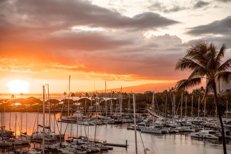 Prince Waikiki Hotel Sunset