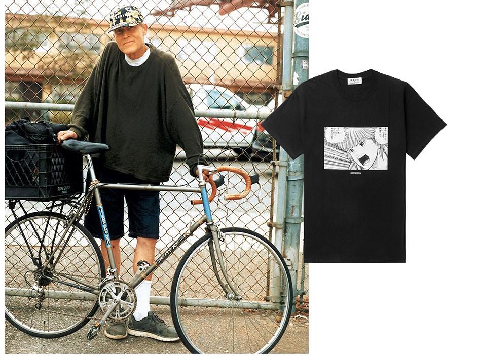 Camiseta y look masculino con pantalones cortos, camiseta blanca y sudadera de Flagstuff