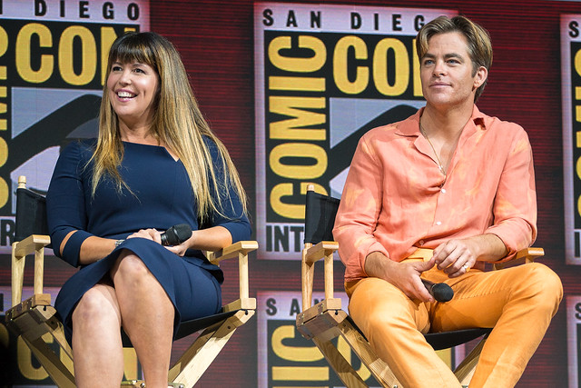 Patty Jenkins and Chris Pine