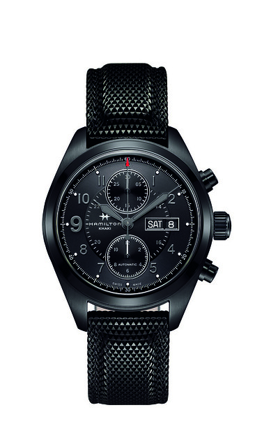 H71626735 Khaki Field Auto Chrono Soldier