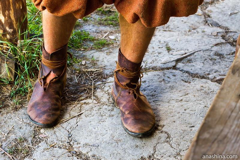 Повседневная обувь викинга, Музей живой истории эпохи викингов Бьоркагард