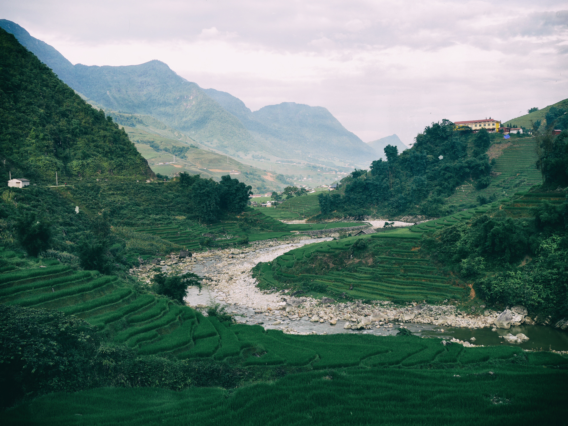Hmong-mountain,-rice-paddy-fields