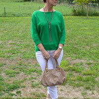 Beauty 'n Fashion: Grass green sweater
