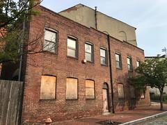 Back building on Stirling Street behind Centennial-Caroline Street United Methodist Church, 1031 E. Monument Street, Baltimore, MD 21202