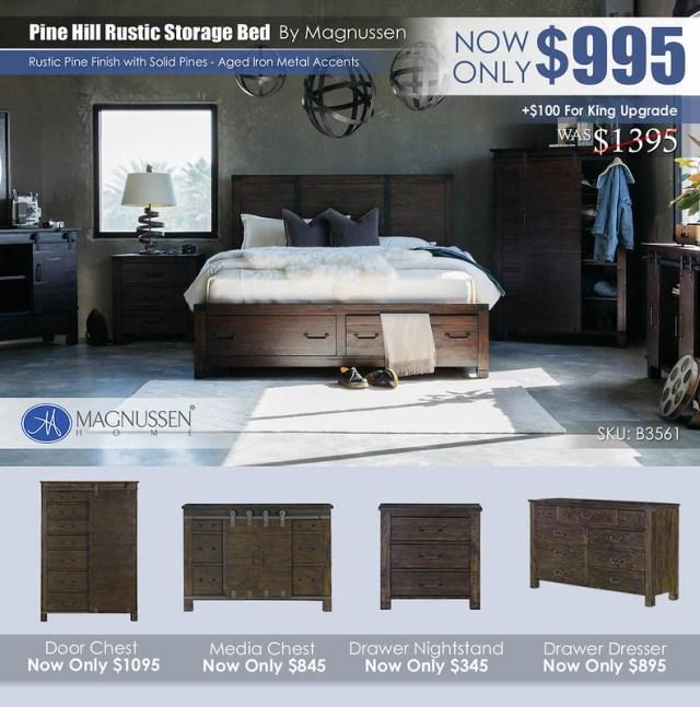 Pine Hill Rustic Storage Bed B3561_AugUpdate