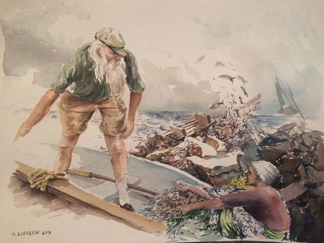 הזקן, הים  ורוכלת הדגים