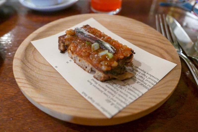 Anchovy, sofrito, housemade bread