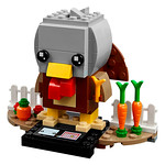 LEGO BrickHeadz 40273 Thanksgiving Turkey et 40274 Mr. & Mrs. Claus
