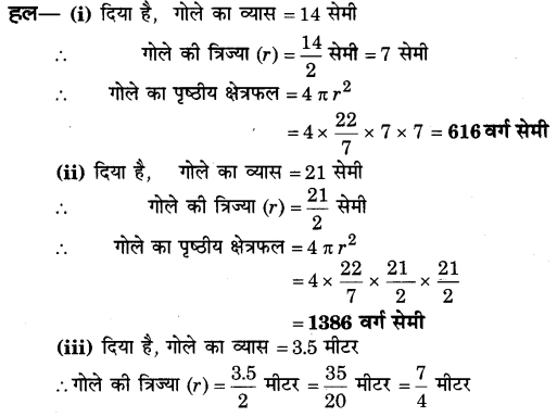 NCERT Solutions for Class 9 Maths Chapter 13 Surface Areas and Volumes (Hindi Medium) 13.4 2