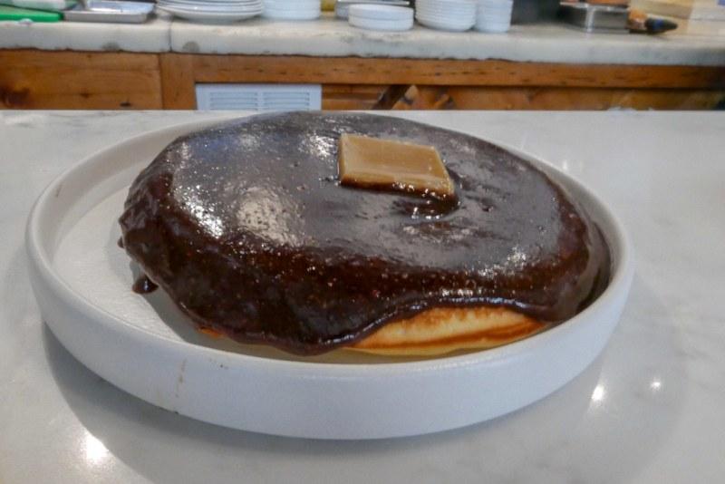 Malted Pancakes - Hazelnut Maple Praline, Brown Butter, single $13