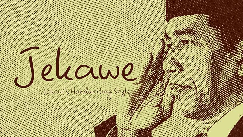 Jekawe: Font Tulisan Tangan Jokowi (Untuk Windows dan Mac)