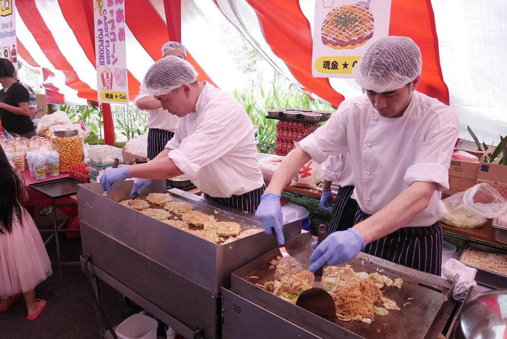 Japanese food and beverage stalls