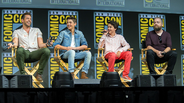 Zachary Levi, Asher Angel, Jack Dylan Grazer and David F. Sandberg
