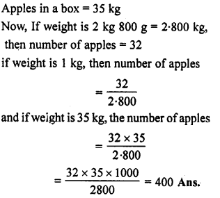Selina Concise Mathematics class 7 ICSE Solutions - Unitary Method (Including Time and Work)- 7 7a