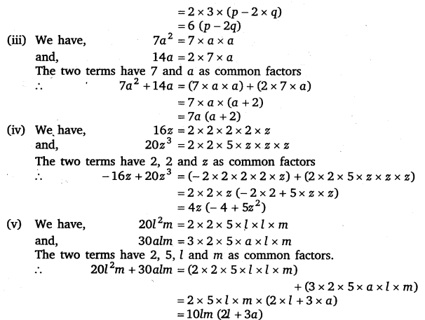 NCERT Solutions for Class 8 Maths Chapter 14 Factorisation 2