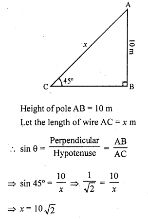 RD Sharma Class 10 Solutions Chapter 12 Heights and Distances Ex 12.1 - 4