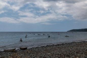De schippersvloot van Santa Catarina koos het ruime sop.