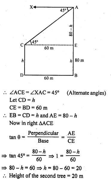 RD Sharma Class 10 Solutions Chapter 12 Heights and Distances Ex 12.1 - 47