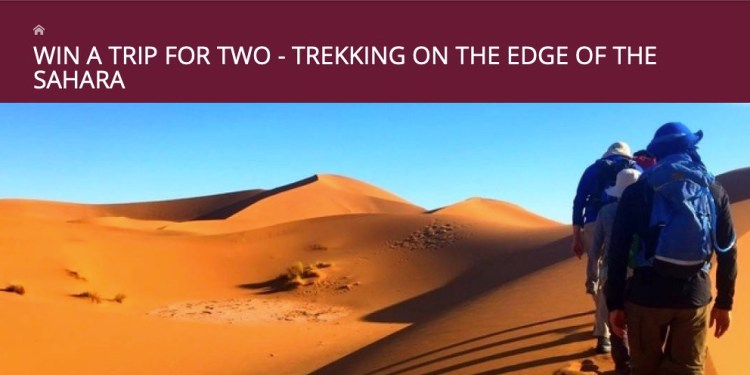 Win An 8 Day Morocco Trek!