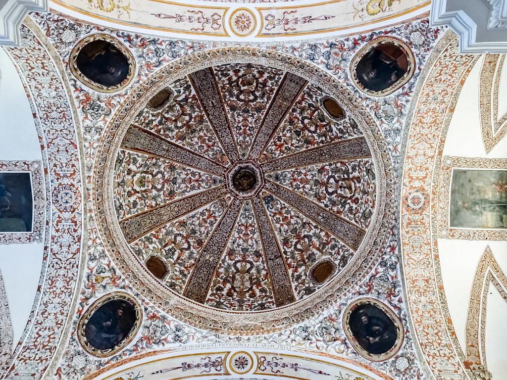 cupula interior Iglesia de San Agustin Convento del Santisimo Sacramento Almagro Ciudad Real