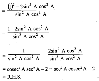 RD Sharma Class 10 Solutions Chapter 11 Trigonometric Identities Ex 11.1 - 49a