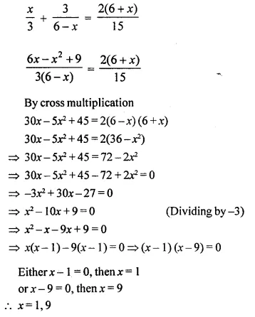 Selina Concise Mathematics Class 10 ICSE Solutions Chapterwise Revision Exercise 22A