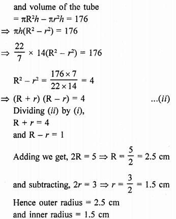 Class 9 Maths Chapter 19 Surface Areas and Volume of a Circular Cylinder RD Sharma Solutions