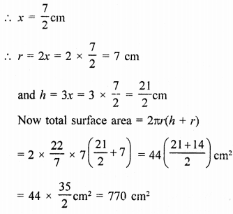 Class 9 Maths Chapter 19 Surface Areas and Volume of a Circular Cylinder RD Sharma Solutions VSAQS