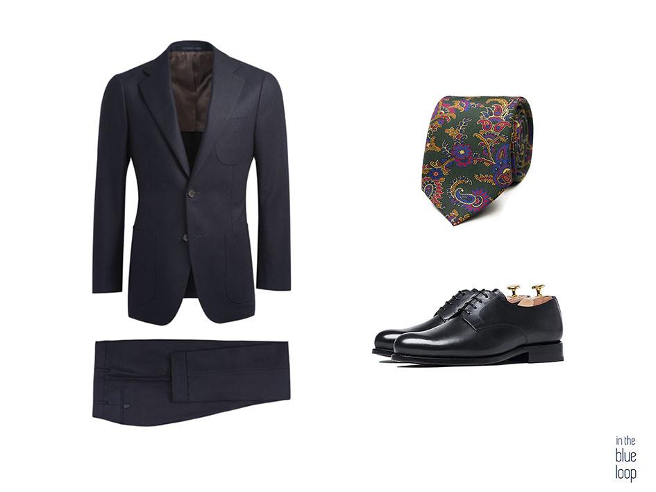 traje masculino azul con corbata y zapatos derribe negros para hombre 3 maneras de llevar unos zapatos derby