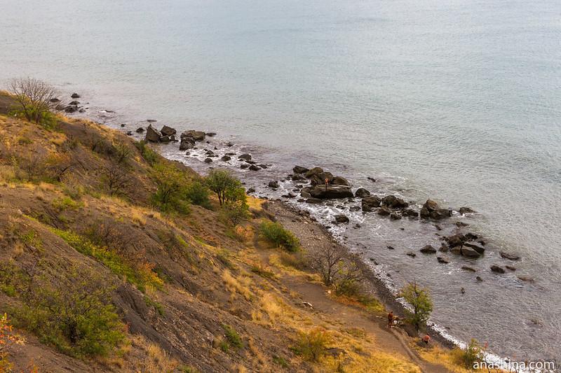 Берег, Черное море, Малореченское