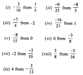 Selina Concise Mathematics class 7 ICSE Solutions - Rational Numbers-c6