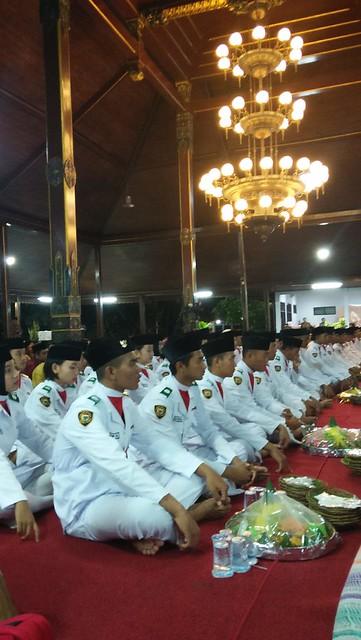 Suasana malam tasyakuran peringatan HUT Proklamasi Kemerdekaan Ke 73 di Pendopo Kongas Aruming Bongso Tulungagung (7/10)