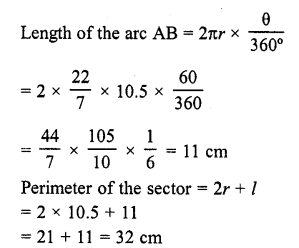 RD Sharma Class 10 Solutions Chapter 13 Areas Related to Circles VSAQS - 11a