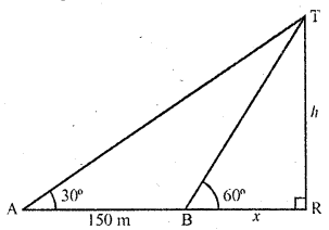 RD Sharma Class 10 Solutions Chapter 12 Heights and Distances Ex 12.1 - 14