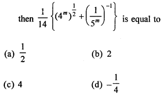 RD Sharma Class 9 Solutions Chapter 2 Exponents of Real Numbers MCQS - 34a