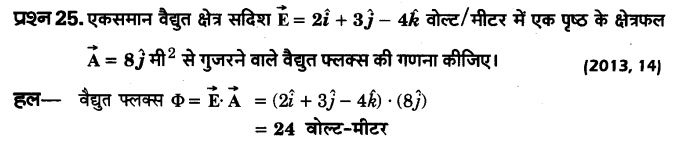UP Board Solutions for Class 12 Physics Chapter 1 Electric Charges and Fields VSAQ 25