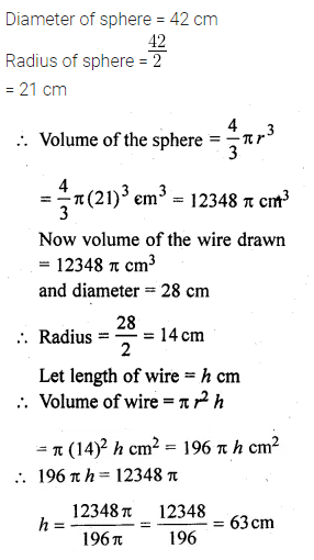 ML Aggarwal Class 10 Solutions for ICSE Maths Chapter 18 Mensuration Chapter Test 21