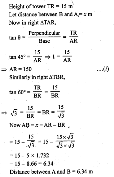 RD Sharma Class 10 Solutions Chapter 12 Heights and Distances Ex 12.1 - 58a