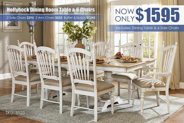 Homelegance Hollyhock Dining Table & 6 Chairs_5123-96