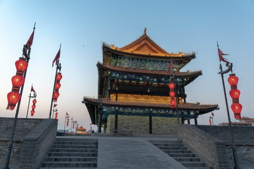One of the temples on Xi'an city wall