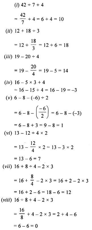 Selina Concise Maths class 7 ICSE Solutions - Integers-5b