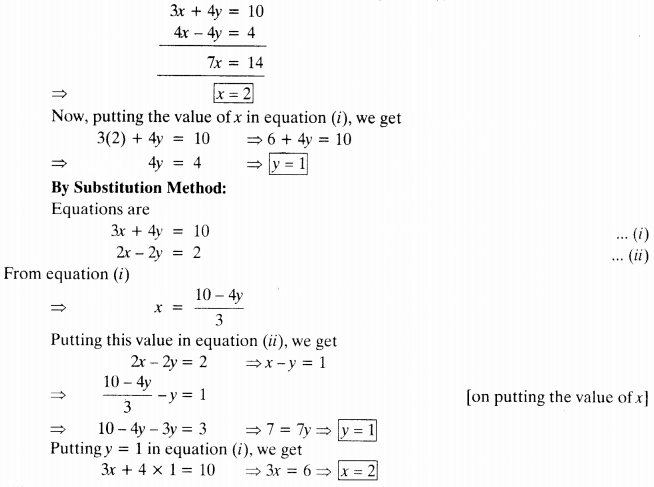NCERT Solutions for Class 10 Maths Chapter 3 Pair of Linear Equations in Two Variables 39
