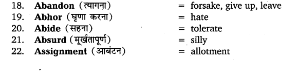 UP Board Solutions for Class 11 English Vocabulary Chapter 5 Synonyms 2