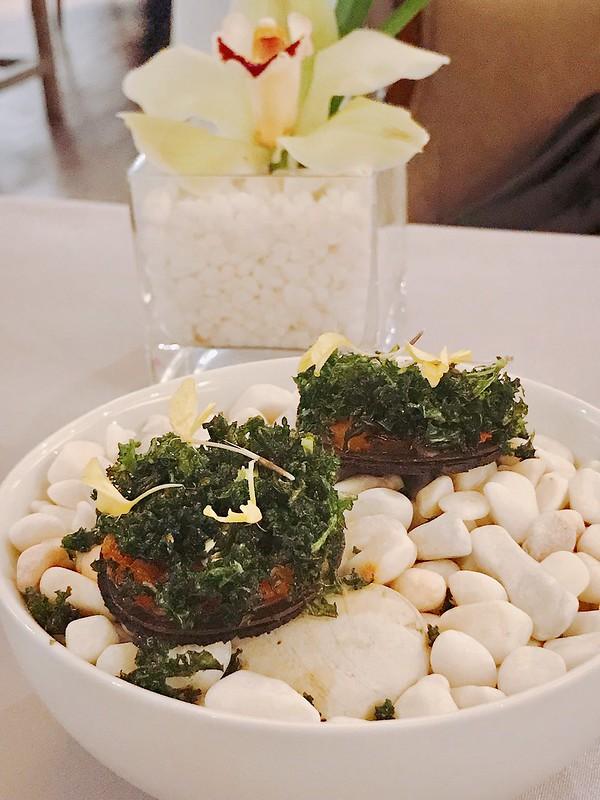 Black olives, Tomato, Salted Egg Yolk (Alma's snacks)