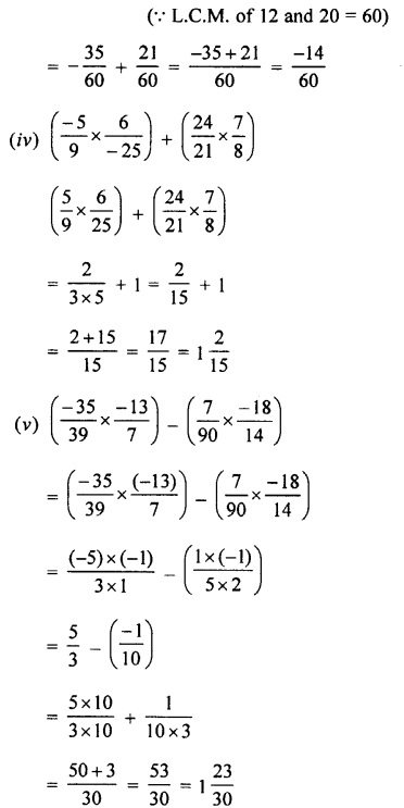 Selina Concise Mathematics class 7 ICSE Solutions - Rational Numbers-d3.......