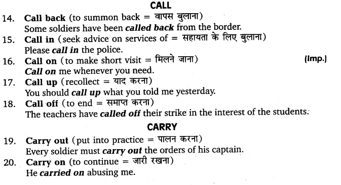 UP Board Solutions for Class 11 English Vocabulary Chapter 9 Idioms and Phrases 39
