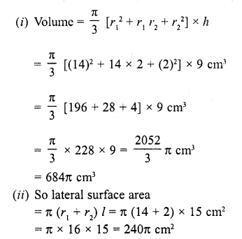 RD Sharma Class 10 Solutions Chapter 14 Surface Areas and Volumes  RV 61a