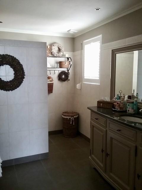 Badkamer bungalow landelijk