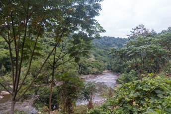 Dit is de Ogooué rivier in de buurt van Ndjolé.