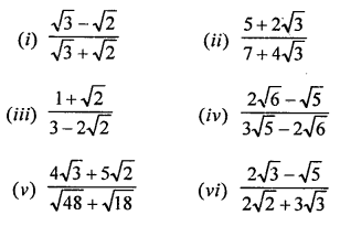 RD Sharma Math Solution Class 9 Chapter 3 Rationalisation